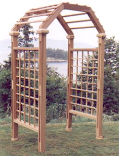 The Clematis Garden Arch, click to return to cedar page.